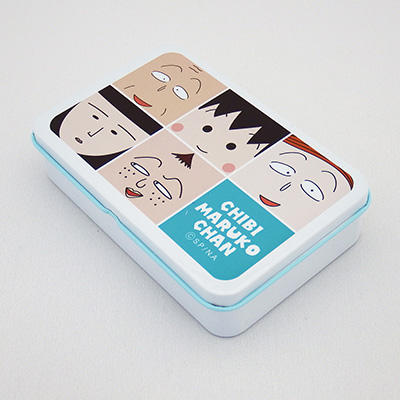 缶入りキャンディ「ちびまる子ちゃんロック れもんこりっと」「ちびまる子ちゃんフェイス いちごみるく」 商品画像