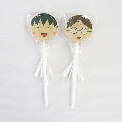 ちびまる子ちゃんスティックキャンディ(イチゴ風味)「まる子&永沢君」「まる子&たまちゃん」 商品画像