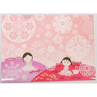 クリアファイル「新学期」「ピンクのお花畑」 商品画像