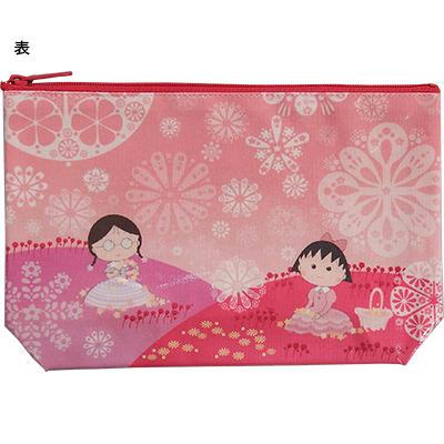 ポーチ「ピンクのお花畑」「鳥 オレンジ」 商品画像
