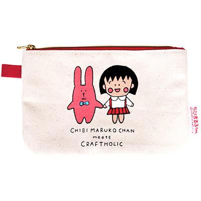 フラットポーチ・まる子&RAB「CHIBI MARUKO CHAN meets CRAFTHOLIC」 商品画像