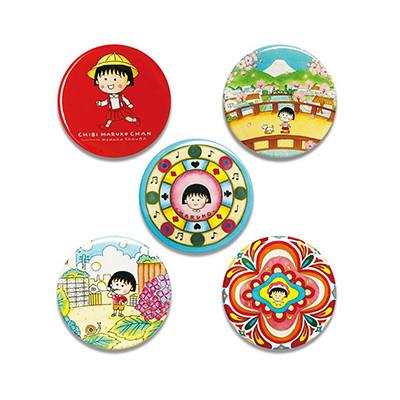 ちびまる子ちゃん 原作デザイン 缶バッジ 全5種 商品画像