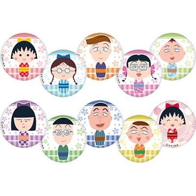 まるこけし 缶バッジ (ガチャガチャ) 商品画像