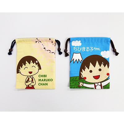 ちびまる子ちゃん シャンタン巾着 まる子と桜/まる子と富士山 商品画像