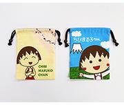 ちびまる子ちゃん シャンタン巾着 まる子と桜/まる子と富士山