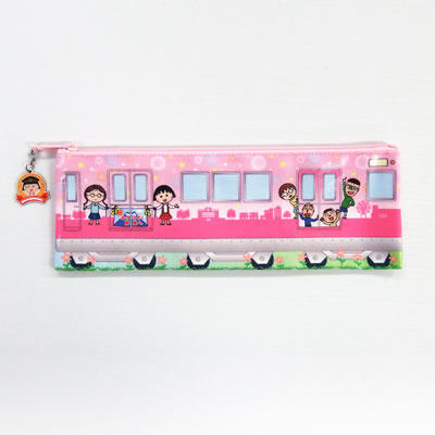 静岡鉄道×ちびまる子ちゃんランド ペンケース(マルコデンシャ) 商品画像
