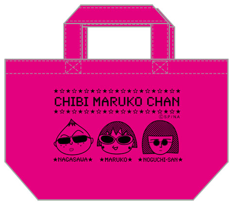 CHIBI MARUKO CHAN(Rock Style)ランチバッグ(ブラック)(ピンク) 商品画像 サムネイル