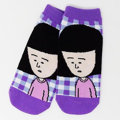 ちびまる子ちゃんSOCKS 「まる子チェック」「野口さんチェック」 商品画像